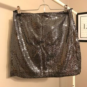 Sparkle Sequined Pencil Skirt